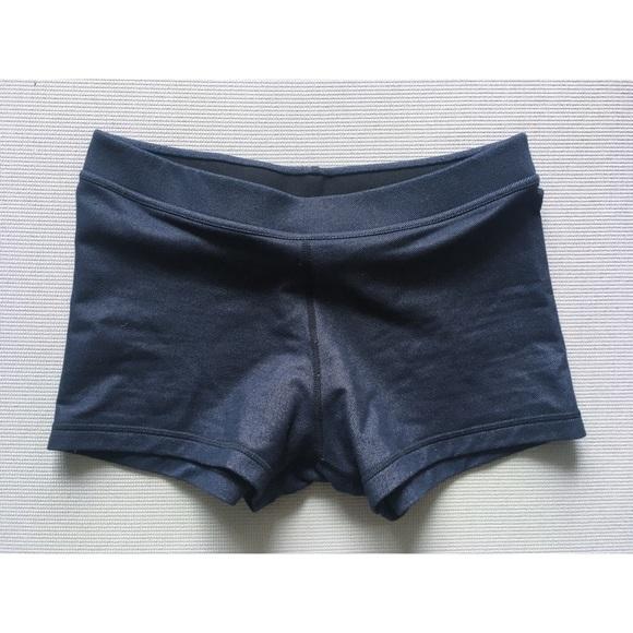 Lululemon dark denim boogie on shorts